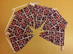 COTTON UNION JACK BUNTING - 4 Metres approx. - 12 Flags approx.